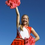 Cheerleader with Pom-poms