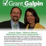 Vote Grant Galpin door knocker